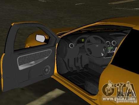 Lada Granta v2.0 for GTA Vice City inner view