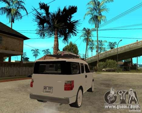 Honda Element for GTA San Andreas back left view