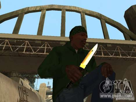Pak Golden weapons for GTA San Andreas third screenshot