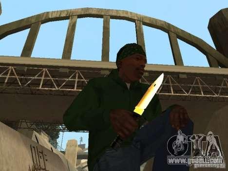 Pak Golden weapons for GTA San Andreas third screenshot