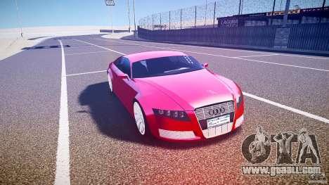 Audi Nuvollari Quattro for GTA 4 inner view