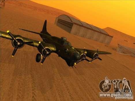 B-17 g Flying Fortress (Nightfighter version) for GTA San Andreas