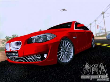 BMW 550i 2012 for GTA San Andreas left view