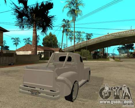 Ford F1 Pickup Hotrod 49 for GTA San Andreas back left view