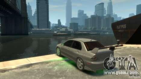 Mitsubishi Lancer EVOLUTION VIII for GTA 4 back view