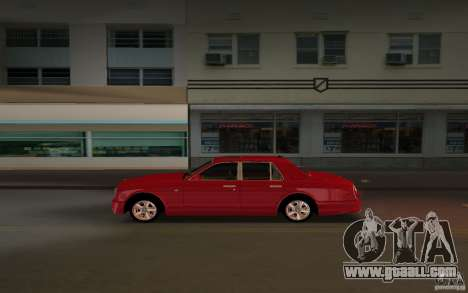 Bentley Arnage T 2005 for GTA Vice City right view