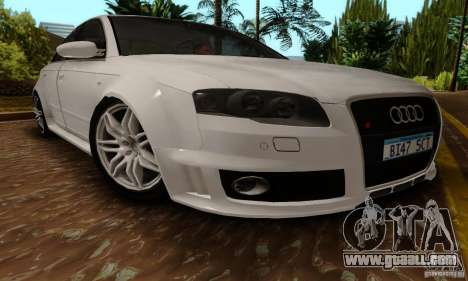 Audi RS4 2007 for GTA San Andreas back left view