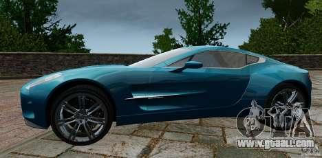 Aston Martin One-77 2012 for GTA 4 left view