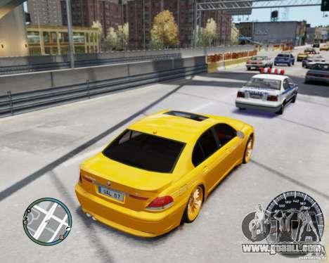 BMW Alpina B7 for GTA 4 inner view