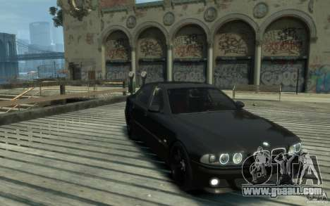 BMW M5 E39 for GTA 4 back view