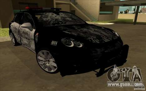 Porsche Cayenne Turbo 958 Seacrest Police for GTA San Andreas side view