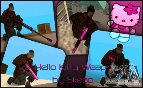 Hello Kitty weapon for GTA San Andreas