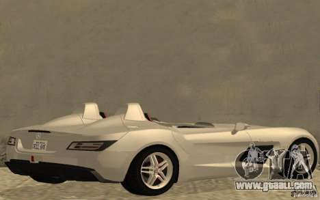 Mercedes-Benz SLR McLaren Stirling Moss for GTA San Andreas back left view