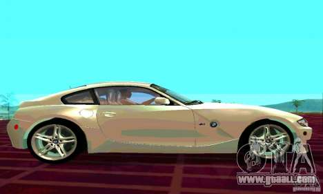 BMW Z4 E85 M for GTA San Andreas back view