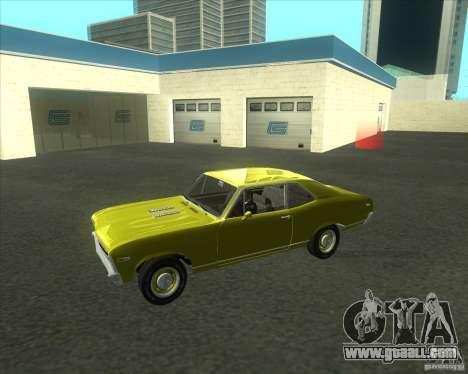 Chevy Nova SS 1969 for GTA San Andreas