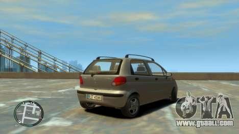 Daewoo Matiz Style 2000 for GTA 4 back left view