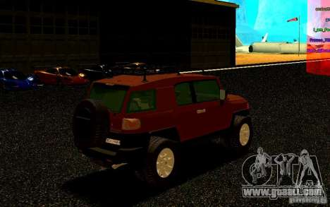 Toyota FJ Cruiser for GTA San Andreas right view