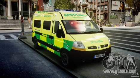 Renault Master 2007 Ambulance Scottish for GTA 4 back view