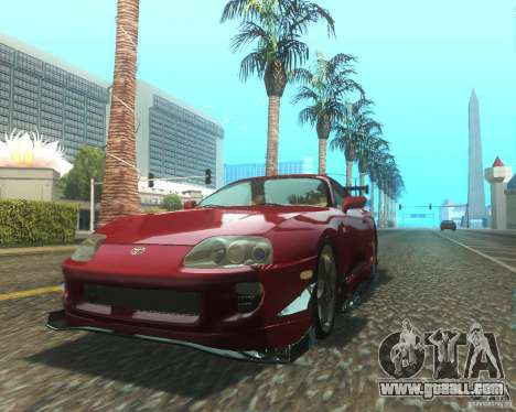 Toyota Supra Light Tuned for GTA San Andreas left view
