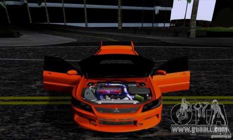 Mitsubishi Lancer Evolution IX 2006 for GTA San Andreas back left view