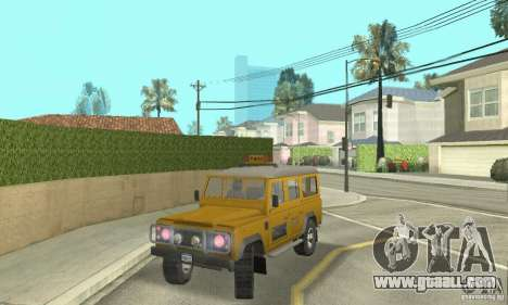 Land Rover Defender 110SW Taxi for GTA San Andreas