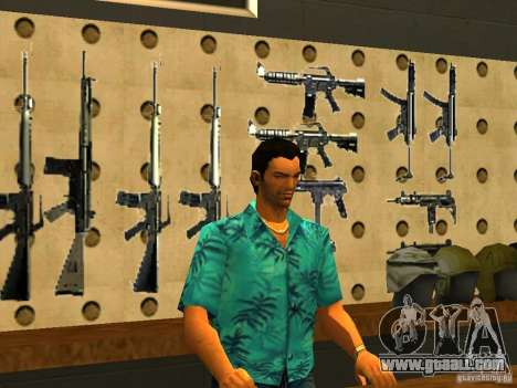 Tommy Vercetti in AMMU-NATION for GTA San Andreas