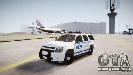 Chevrolet Tahoe 2012 NYPD for GTA 4 back view
