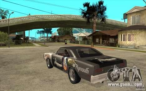 Plymouth Roadrunner Superbird Custom for GTA San Andreas back left view
