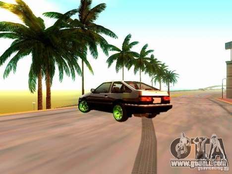 Toyota Corolla Carib AE86 for GTA San Andreas left view
