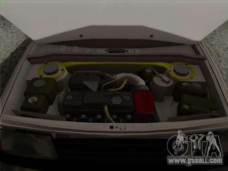 VAZ 21099 Drain for GTA San Andreas upper view