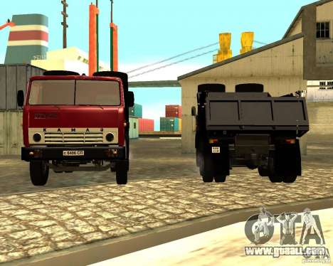 KAMAZ 55111 for GTA San Andreas back view