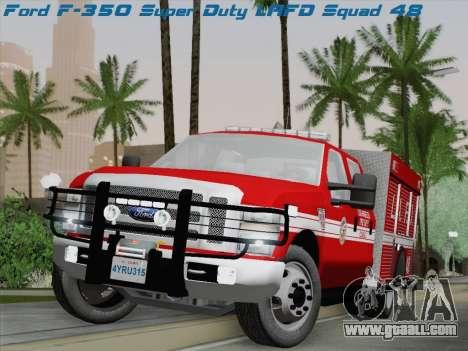 Ford F-350 Super Duty LAFD for GTA San Andreas