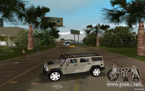 AMG H2 HUMMER for GTA Vice City left view