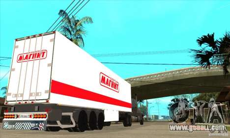 Trailer Magnit for GTA San Andreas back left view