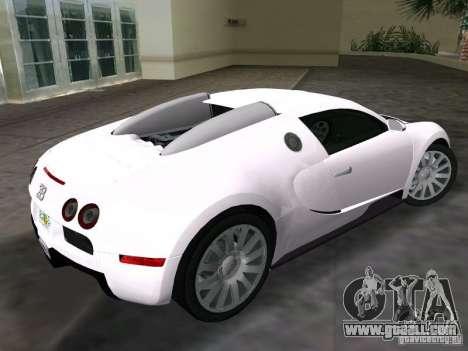 Bugatti Veyron EB 16.4 for GTA Vice City left view