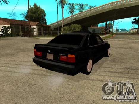 BMW e34 525 for GTA San Andreas back left view