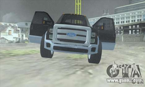 FORD F450 SUPER DUTE for GTA San Andreas back view