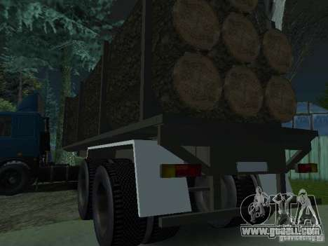 Timber trailer for tractor for GTA San Andreas