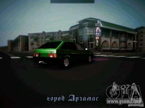 Vaz 2109 short-kryloe Taxi for GTA San Andreas right view