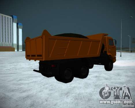 KAMAZ 6520 dump truck for GTA San Andreas back left view