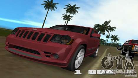 Jeep Grand Cherokee for GTA Vice City back view