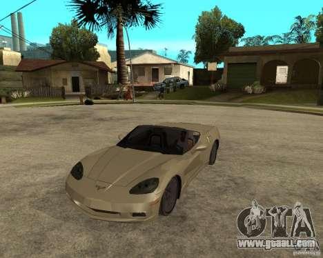 2005 Chevy Corvette C6 for GTA San Andreas
