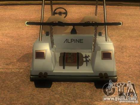 CADDY v1.0 restyling for GTA San Andreas side view