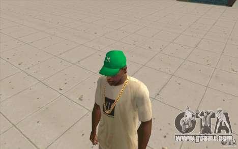 Newyorkyankiys Cap Green for GTA San Andreas