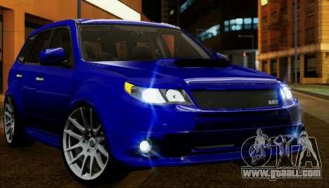 Subaru Forester RRT sport 2008 for GTA San Andreas upper view