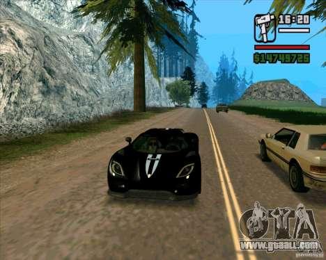Koenigsegg Agera for GTA San Andreas