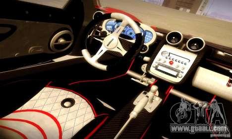 Pagani Zonda Tricolore V2 for GTA San Andreas upper view
