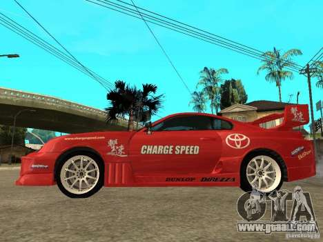 Toyota Supra Chargespeed for GTA San Andreas left view