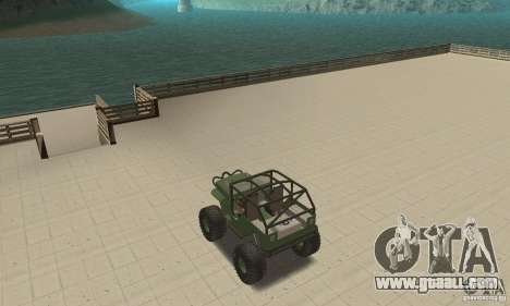 Jeep Willys Rock Crawler for GTA San Andreas inner view