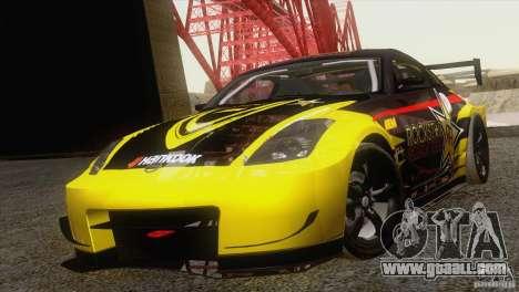 Nissan 350Z Rockstar for GTA San Andreas